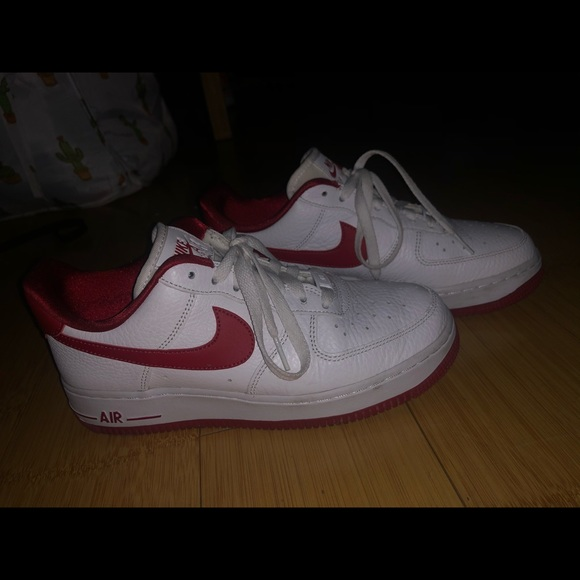 Nike Shoes   Air Force 1s Red Swoosh